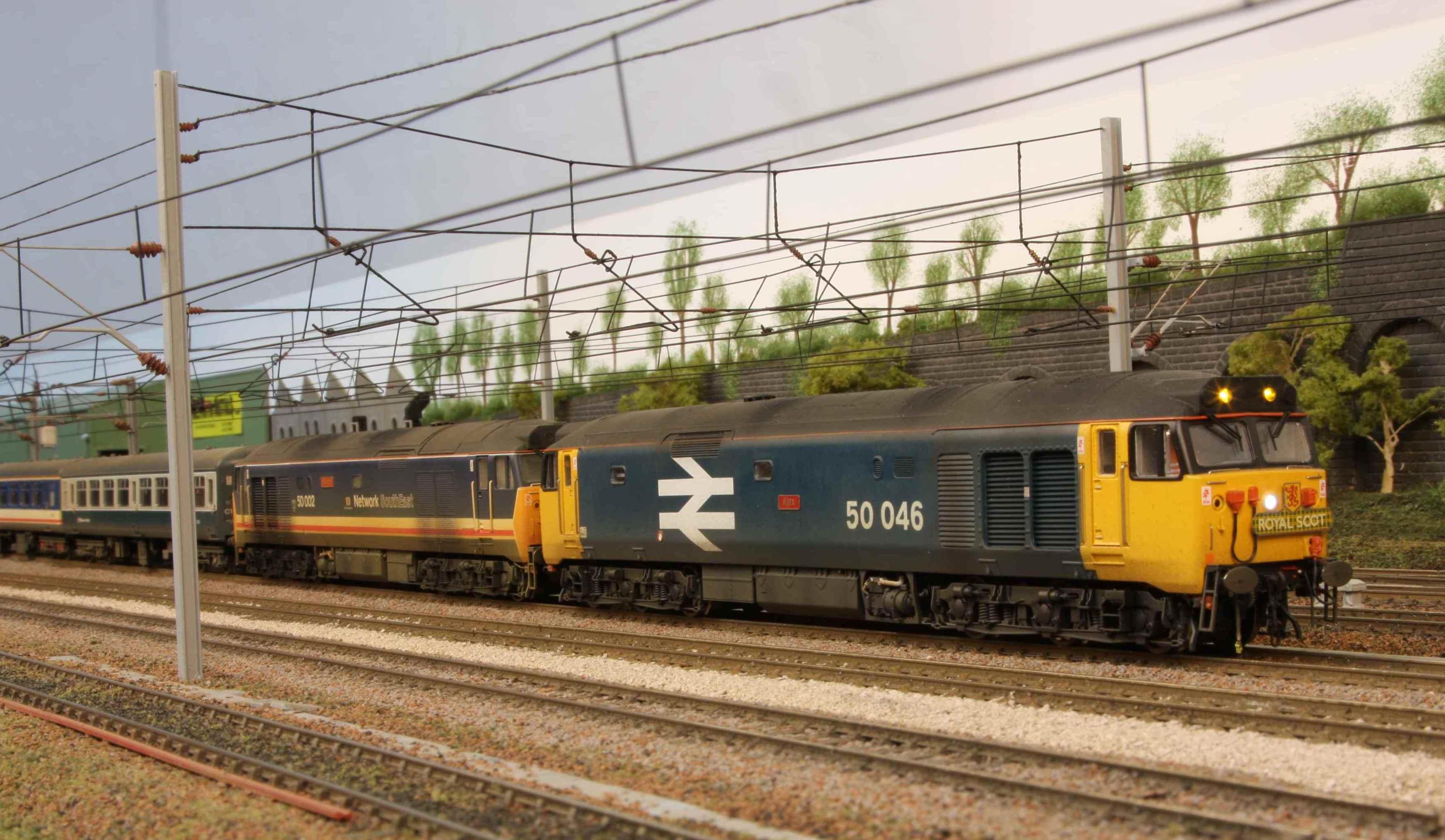 50 046 & 50 002 head a railtour north.